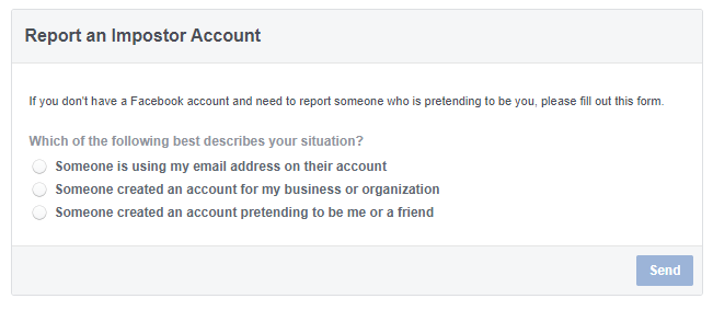 how to report a cloned facebook account